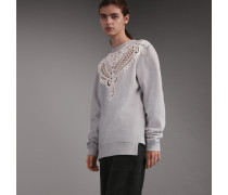 Unisex-Sweatshirt mit Spitze