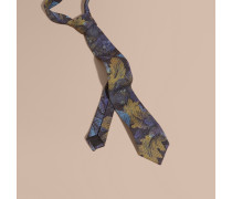 Modern geschnittene Krawatte im Gobelindesign