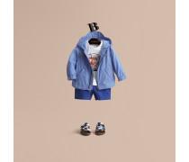 Wasserabweisende Jacke aus technischer Faser mit Kapuze