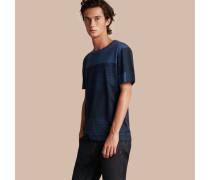Baumwoll-t-shirt Mit Check-muster