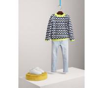 Pullover aus Baumwolle und Kaschmir mit Streifen- und Punktmuster
