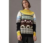 Pullover aus Kaschmir und Wolle im Fair Isle-Patchwork