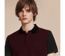 Poloshirt Aus Baumwollpiqué Im Colour-blocking-design