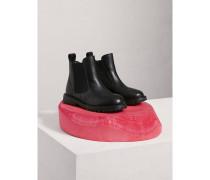 Chelsea-Stiefel aus Leder mit Brogue-Detail