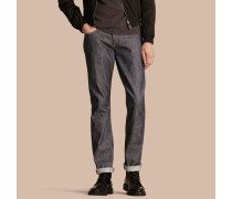 Gerade geschnittene Jeans in Tief Indigo