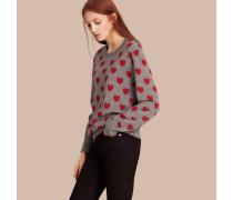Pullover aus Merinowolle mit Herzmuster