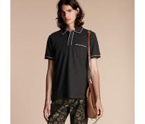 Poloshirt aus Baumwollpiqué mit Paspelierung