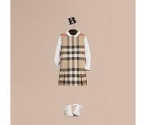 Baumwollkleid mit Check-Muster und Kellerfalten