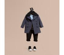 Mantel aus technischer Wolle mit abnehmbarem