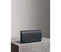 Colour-Blocking-Brieftasche im Kontinentalformat mit Münzbörse