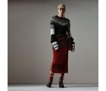 Pullover aus Kaschmir und Wolle mit handgestrickter Passe