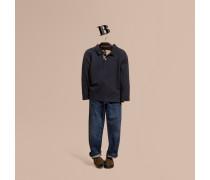 Langärmeliges Poloshirt aus Baumwolle