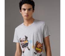 T-Shirt aus Baumwolle mit witzigem Fantasiewesen-Motiv