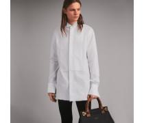 Elegantes Hemd aus Baumwolle mit Makramee-Besatz