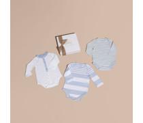 Dreiteiliges Baby-Geschenkset aus einer Baumwollmischung