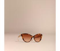 Cat-eye-sonnenbrille Mit Check-detail In 3d
