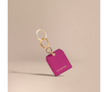 Schlüsselanhänger aus genarbtem Leder