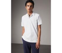 Poloshirt aus Baumwollpiqué mit Check-Knopfleiste