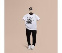 T-shirt Aus Baumwolle Mit Käfermotiv