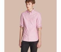 Oxford-Hemd aus Baumwolle mit Karodetail