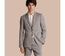 Schmal geschnittener Travel Tailoring-Anzug aus Leinen und Wolle