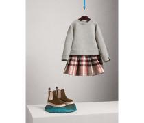 Pulloverkleid mit kontrastierendem Karomuster