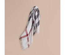 Karreeschal aus Wolle mit Check-Muster – Groß
