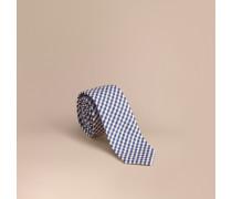 Schmale Krawatte aus Baumwollseide mit Vichy-Muster