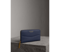 Brieftasche aus Trench-Leder in Zweitonoptik