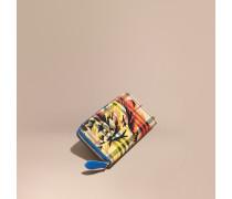 Brieftasche in Haymarket Check mit Pfingstrosenmotiv