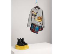 Sweatshirt aus Baumwolle mit witziger Applikation