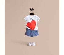 """T-Shirt aus Baumwolle mit """"Hooked Heart""""-Motiv"""