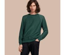Jersey-Sweatshirt aus einer Baumwollmischung mit Stickerei