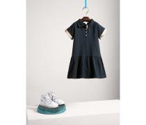 Kleid aus Stretchbaumwollpiqué mit niedrig angesetzter Taille