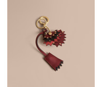 Beasts-Schlüsselanhänger aus Leder mit Vorhängeschloss