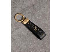 Schlüsselanhänger aus Leder mit Ziernieten