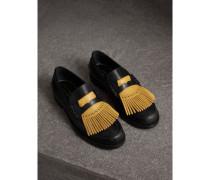 Loafer aus Leder mit kontrastierenden Kiltie-Fransen