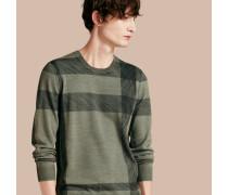 Pullover Aus Merinowolle Mit Abstraktem Check-muster