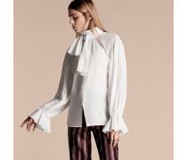 Bluse Aus Baumwoll-voile Mit Schleifendetail Am Ausschnitt