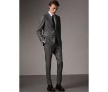 Anzug aus Wolle mit Hahnentrittmuster und Soho-Passform