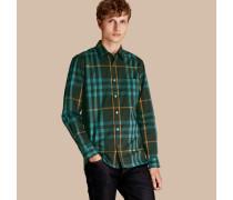 Hemd aus Stretchbaumwolle mit Karomuster