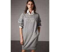 Sweatshirt-Kleid aus Baumwolljersey mit Stickmotiv