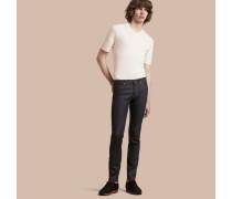 Körperbetonte Jeans Aus Japanischem Denim