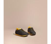 Sportschuhe Aus Satin Und Leder Im Colour-blocking-design