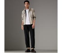 Hose aus Baumwollcanvas mit weiter Beinpartie