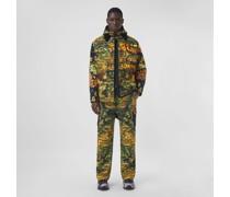 Baumwoll-Hemdjacke in Camouflage-Optik