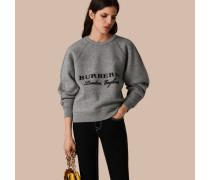 Formschönes Sweatshirt aus Wolle und Kaschmir