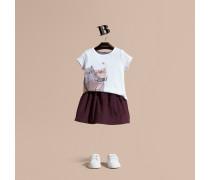 T-shirt Aus Baumwolle Mit Katzenmotiv