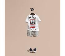 """T-Shirt aus Baumwolle mit """"Fresh Sardines""""-Motiv"""