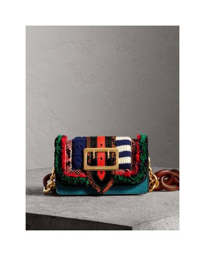 The Patchwork aus exotischem Leder und Wollstrick